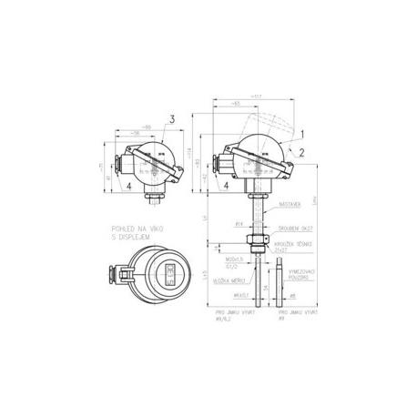 341 Termoelektrický snímač teploty do jímky ČSN