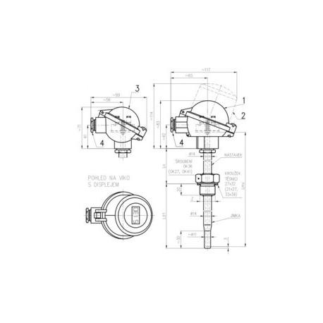 342 Termoelektrický snímač teploty s jímkou ČSN