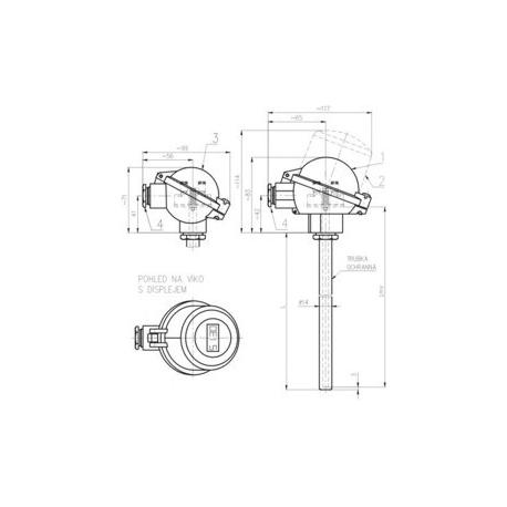 351 Termoelektrický snímač teploty s kovovou ochrannou rúrkou